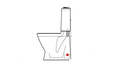 Vertical release squat toilet