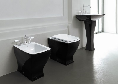 Care black toilets