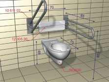 Technical requirements for the installation of wall-hung WC for disabled