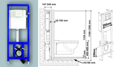 installation height toilet