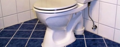 Features a toilet bowl with vertical outflow
