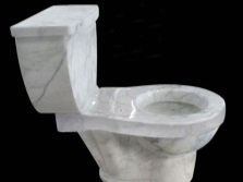Toilet bowl made ​​of artificial stone , vertical outlet