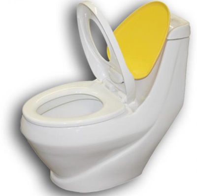 Toilet seat and lid lifter with children