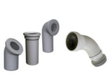pipe options for mounting the toilet