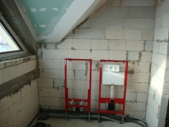Frame installation structure for bidet