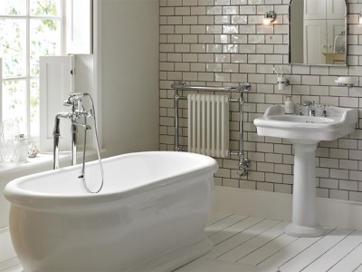 bath with floor stand - column with mixer