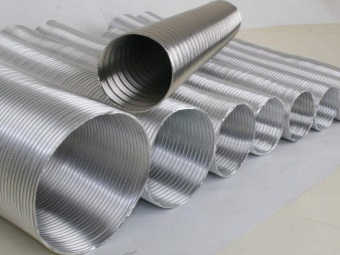 Corrugated pipes for gas columns