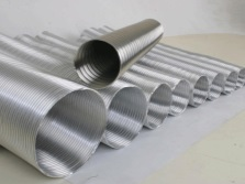Aluminum pipe for the chimney