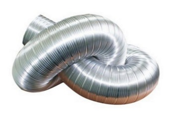 Corrugated flexible duct for a gas column