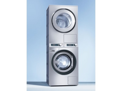 Washing machine with dryer front-loading