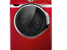 washing machine in a narrow red