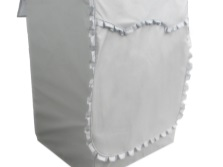 Case with ruffles for a washing machine