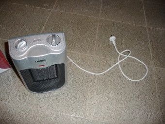 Heater for heating the bathroom