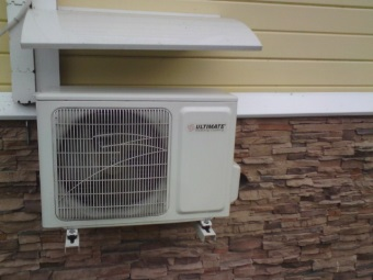 Inverter air conditioner as a heater for the bathroom
