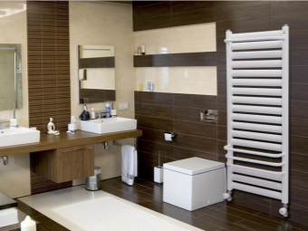 The power requirement of the heater in accordance with the area of ​​the bathroom