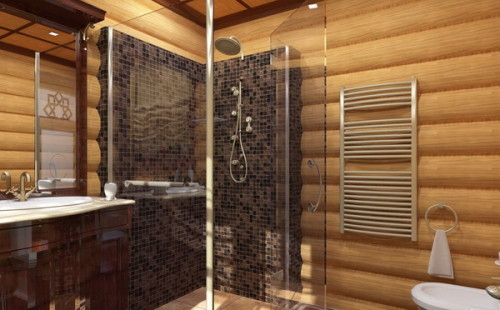 shower - in - wooden - house