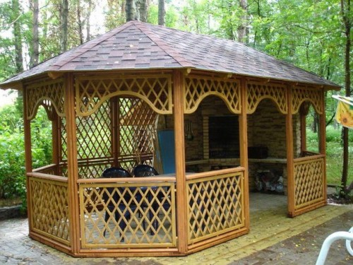wooden - gazebo - with - brick - barbecue