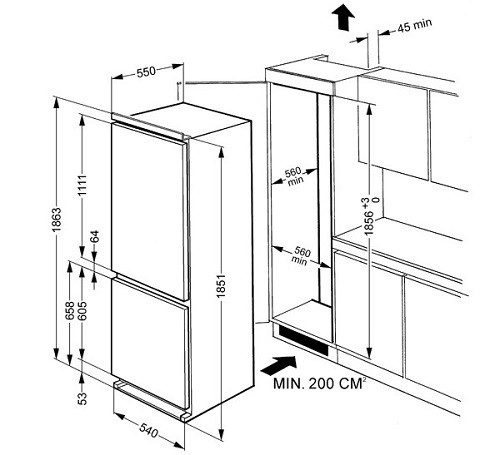 electrolux integrated fridge installation instructions