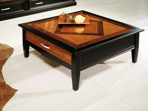 Coffee - table - marquetry - 3