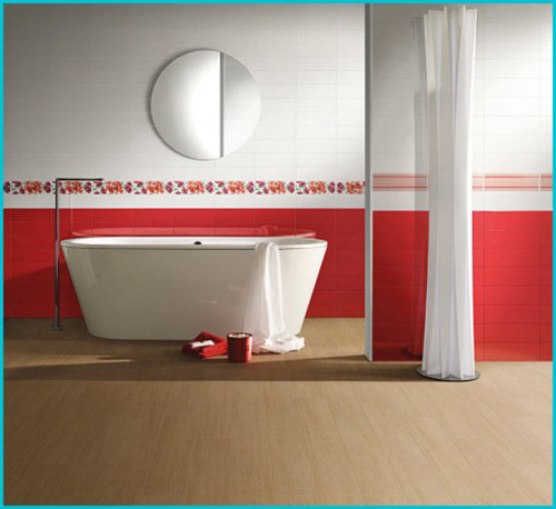 Design red - bath - room - 43-491h450