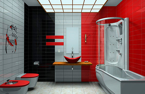 Design red - bath - room - 7