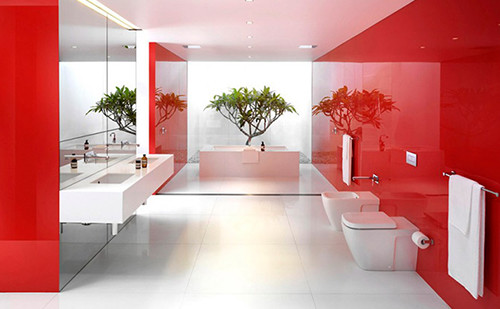 Design red - bath - room - 6