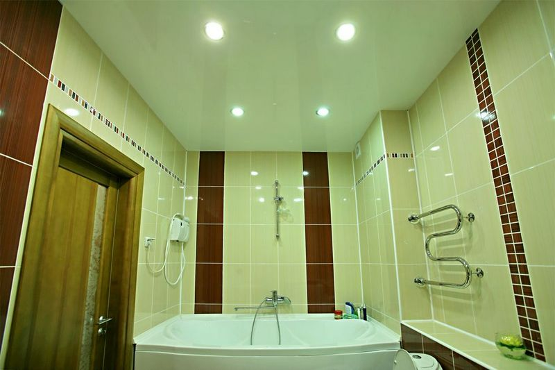 Stretch Ceiling In The Bathroom Photo Build Daily