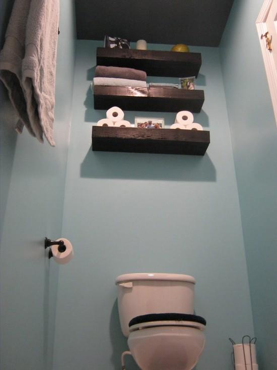 Kabinet over het toilet een praktische opbergruimte foto build daily - Origineel toilet idee ...