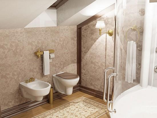 Fürdőszoba a tetőtérben : tervezési ötletek (fotó ) - Build Daily