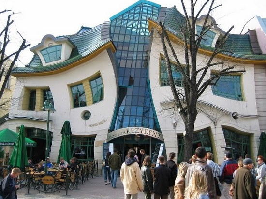 Crooked House in the Polish city of Sopot Photo