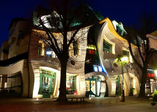 Crooked house in Poland , Sopot