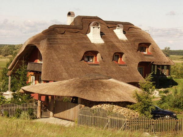 House with thatched roof photo