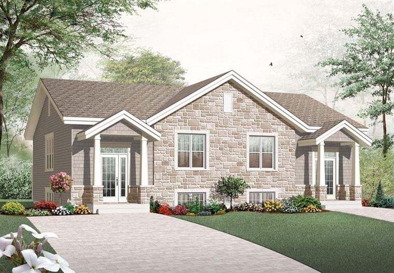 Progetti duplex casa moderna per due famiglie build daily for Piani casa cottage shotgun
