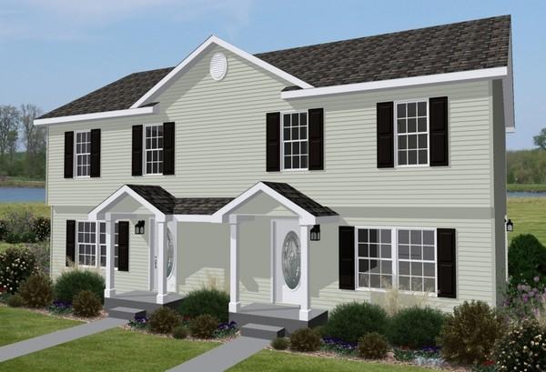 Progetti duplex casa moderna per due famiglie build daily for Affascinanti piani casa cottage