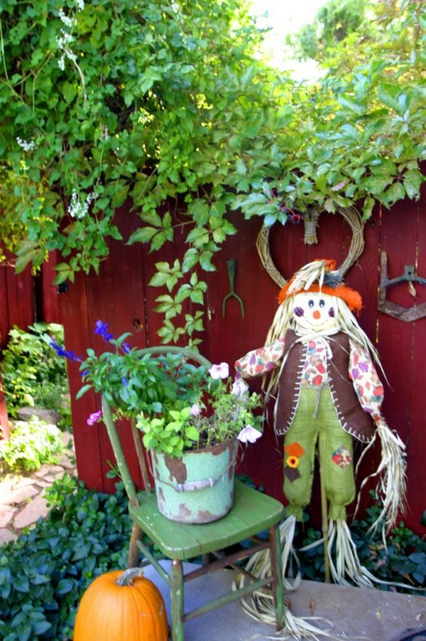 Scarecrow for garden photo