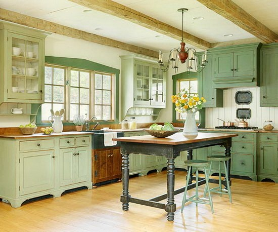 Kitchen in a rustic country style