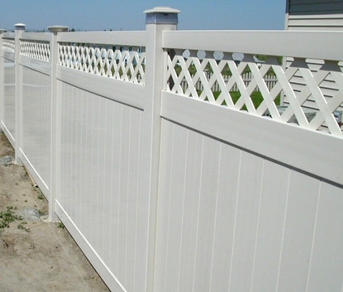 Types of fences made of PVC
