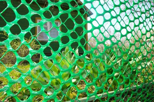 Plastic mesh for fence