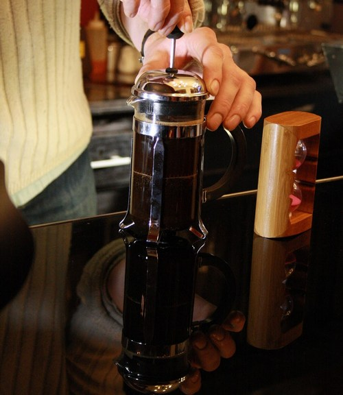 Easy French press coffee maker