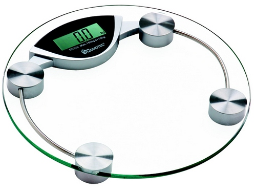 Scales floor electronic glass
