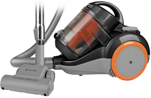 A vacuum cleaner with a brush for parquet