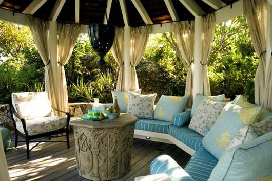 vorh nge f r lauben und terrassen fotos build daily. Black Bedroom Furniture Sets. Home Design Ideas
