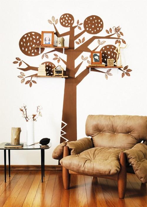 Träd På Väggen Idén För Dekoration ( Foto ) Build Daily