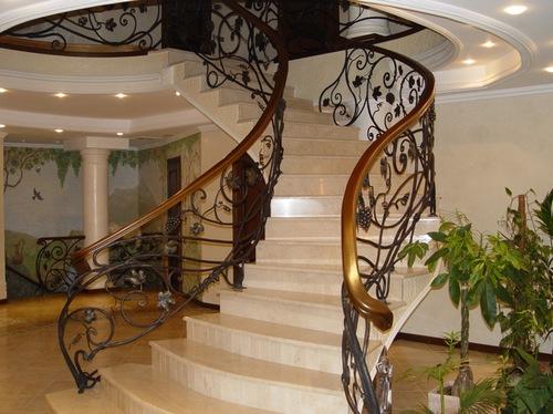 Hierro forjado pasamanos de escaleras y barandillas de for Escaleras hierro forjado