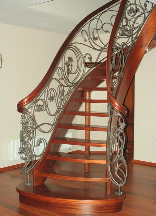 Hierro forjado pasamanos de escaleras y barandillas de - Pasamanos de hierro forjado para escaleras ...