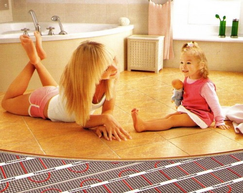 Electric heating - floor heating in the bathroom