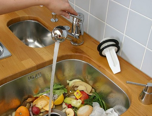 Chopper food waste for the kitchen sink