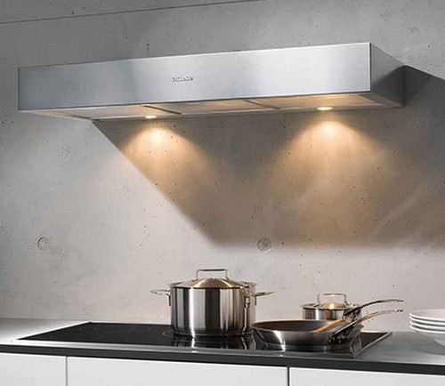 Flat hoods for kitchens