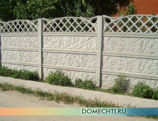 Decorative fence of concrete