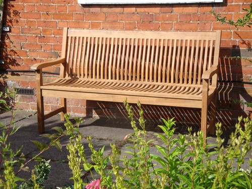 Garden Bench with backrest photo